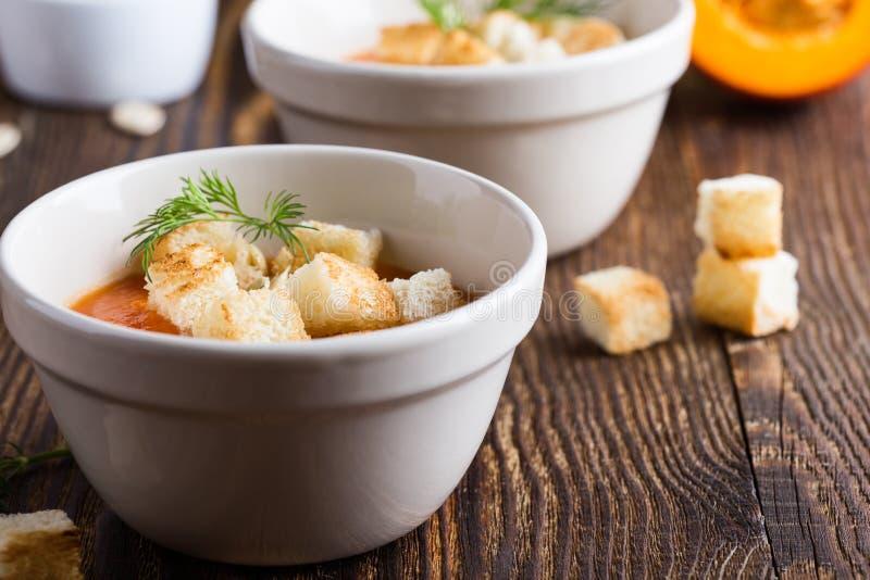 Soupe à courge de Butternut image stock