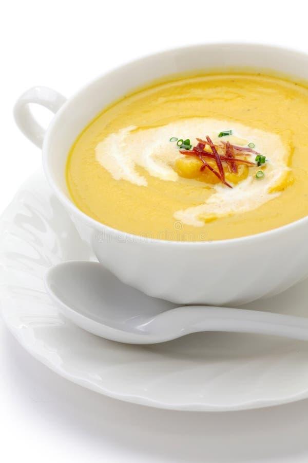 Soupe à courge de Butternuts photo libre de droits