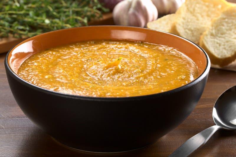 Soupe à crème de patate douce photographie stock libre de droits