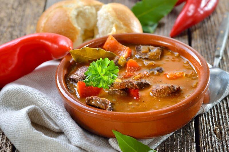 Soupe à goulache hongroise photos stock