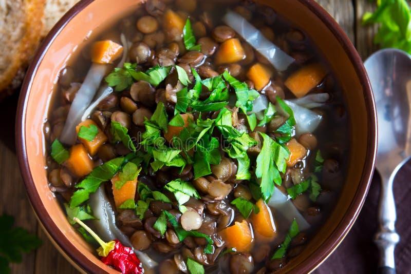 Soupe à lentille (ragoût) images stock