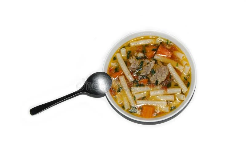 Soupe à macaronis images libres de droits