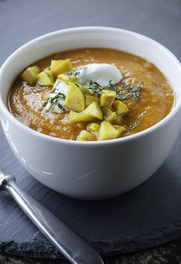 Soupe à patate douce image libre de droits