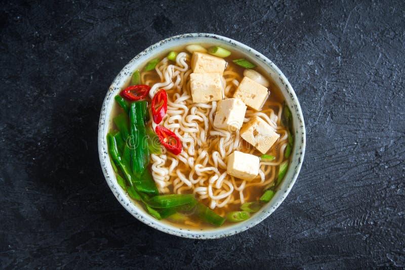 Soupe à ramen de miso photo stock