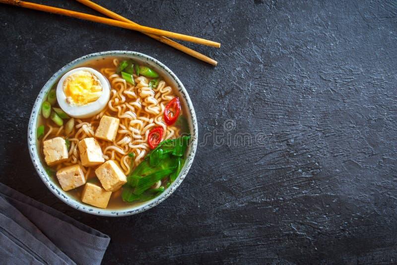 Soupe à ramen de miso photographie stock