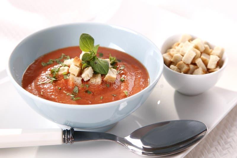 Soupe à tomate photo libre de droits