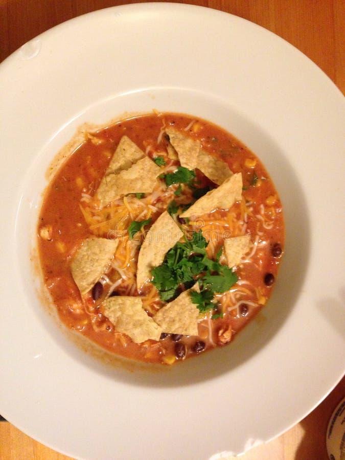 Soupe à tortilla photos stock