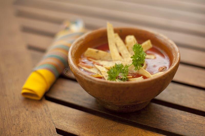 Soupe à tortilla image libre de droits