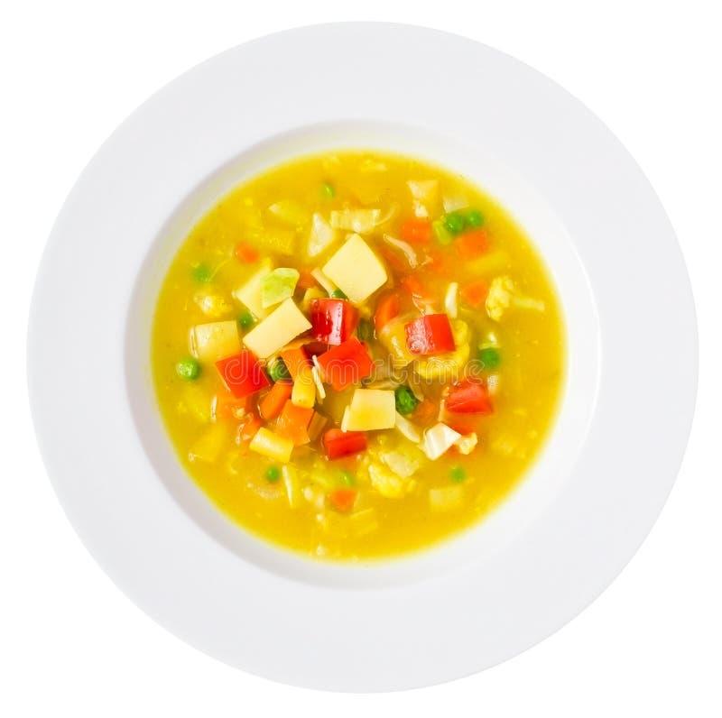 Soupe à Vegan aérienne photo stock