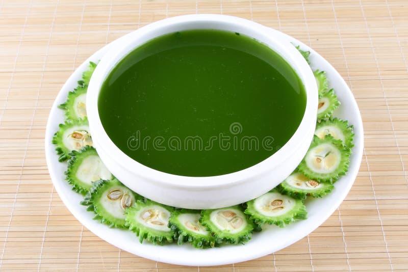 Soupe amère organique à courge. images stock