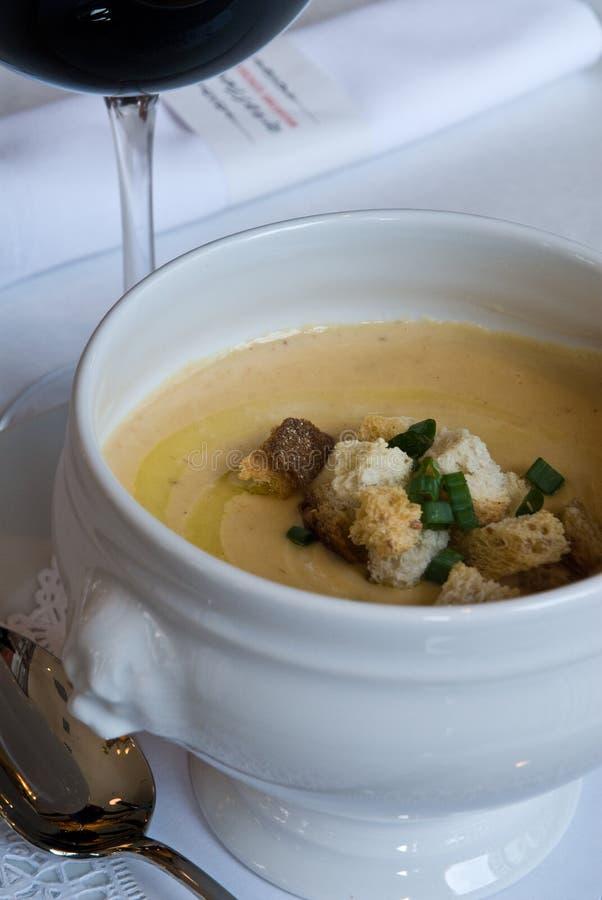 Soupe aux fèves blanc photo stock