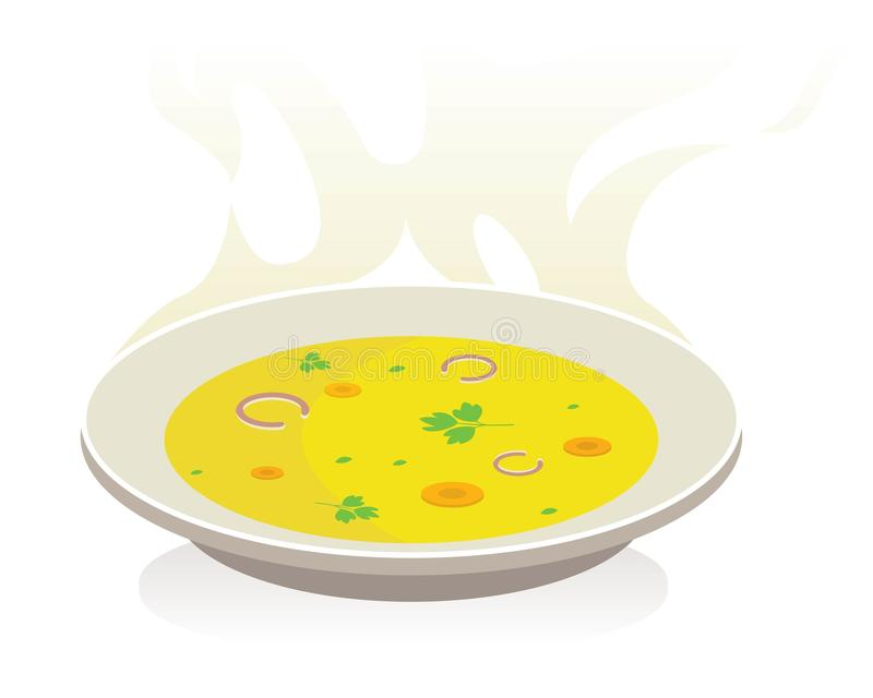 Soupe avec des légumes illustration de vecteur