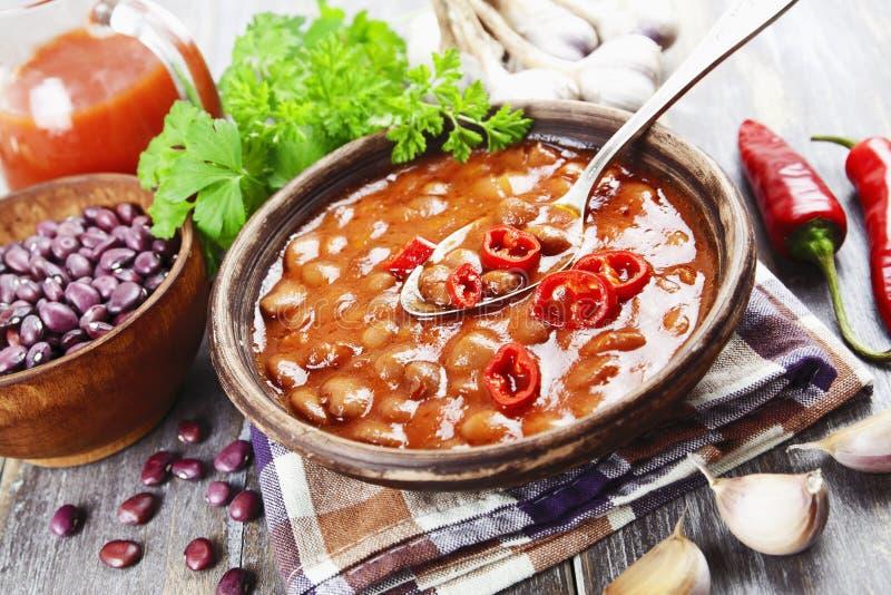 Soupe avec le haricot rouge photos libres de droits