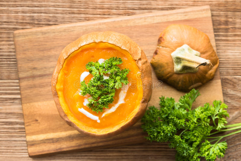 Download Soupe Chaude à Automne Avec Le Potiron Photo stock - Image du régime, manger: 76078142