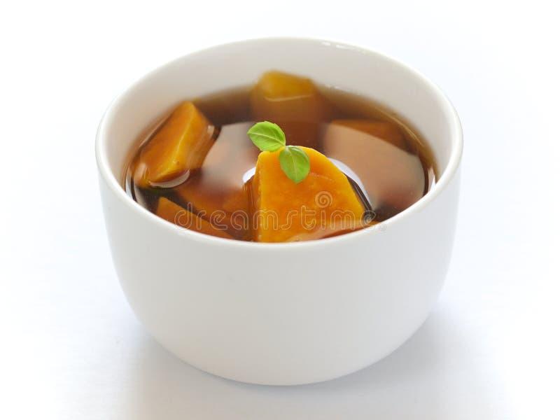 Soupe chinoise à patate douce image libre de droits