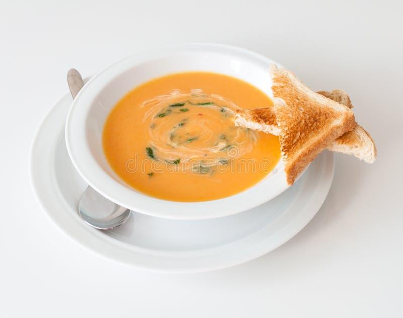 Soupe à carotte images stock