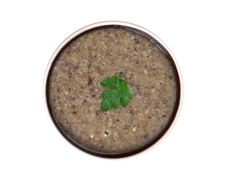 Soupe crème à champignon photographie stock libre de droits