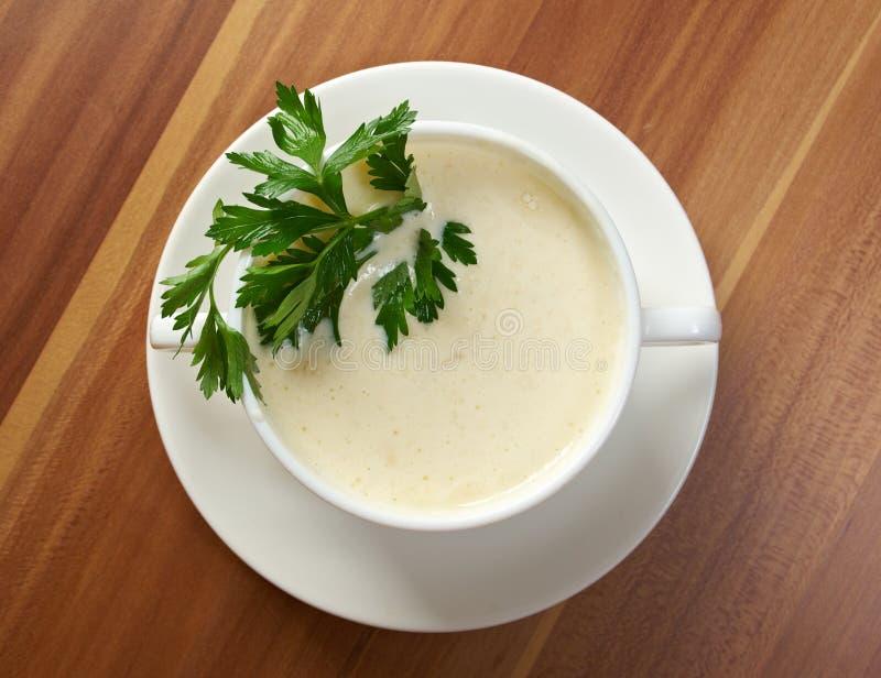 Soupe crémeuse à chou-fleur photos stock