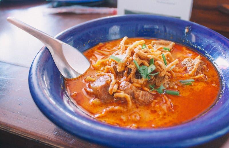 Soupe de nouilles au curry image libre de droits