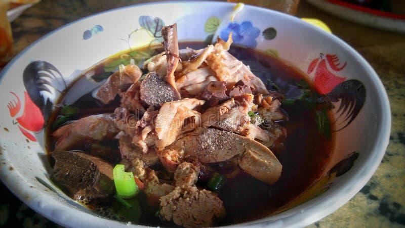 Soupe de nouilles de canard image stock