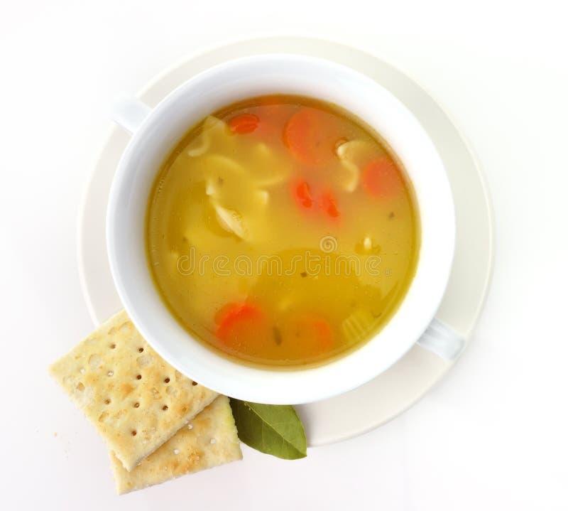 Soupe de nouilles de poulet images stock