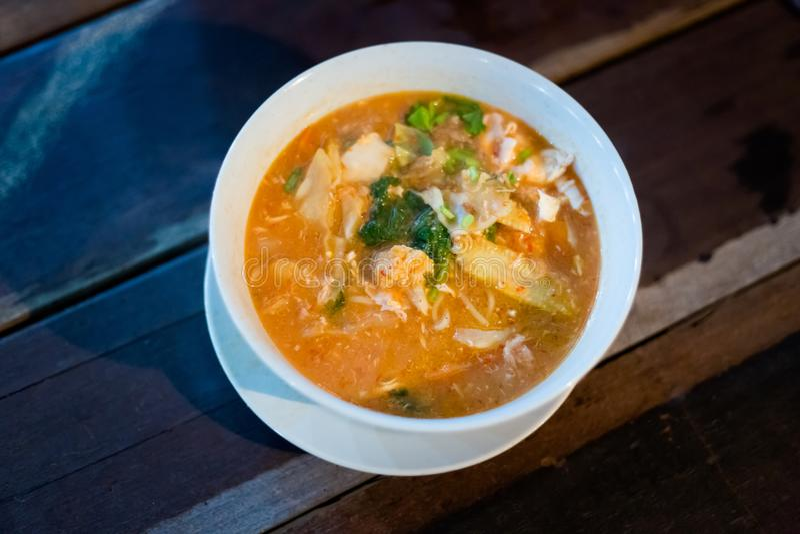 Soupe de nouilles de Mee Bandung de malaysian image stock