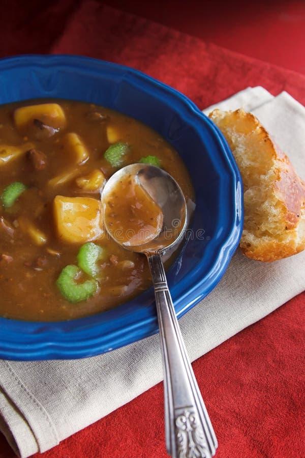 Soupe de viande et aux pommes de terre photo libre de droits