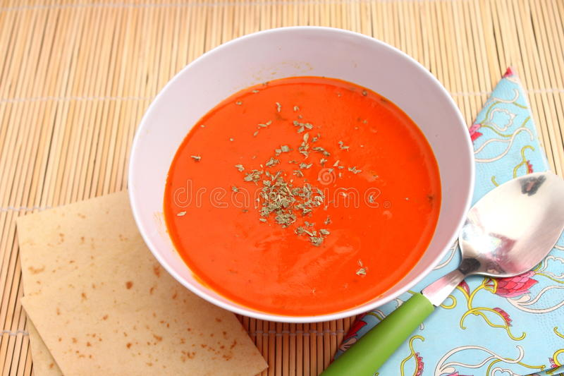 Soupe des tomates images libres de droits