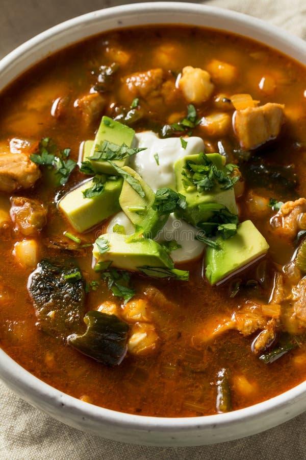 Soupe faite maison à Pozole de Mexicain photos stock
