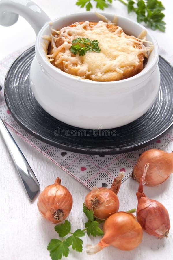 Soupe française à oignon photos libres de droits