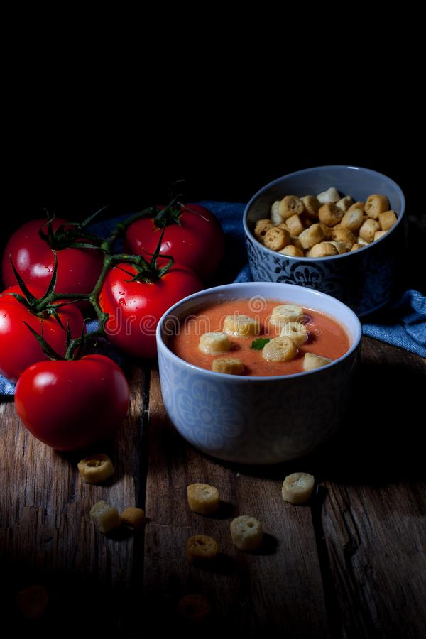 Soupe ? froid de tomate photo libre de droits