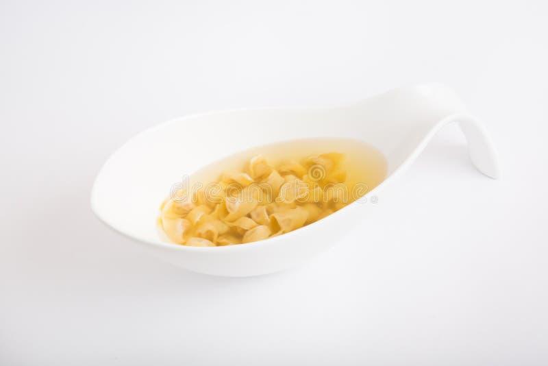 Soupe italienne à macaronis image libre de droits