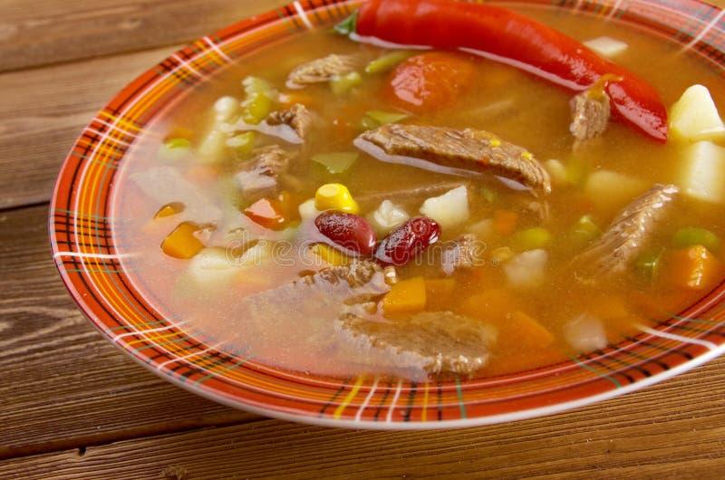 Soupe mexicaine épicée images libres de droits