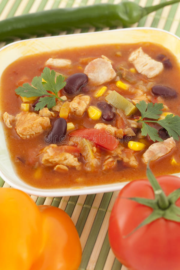 Soupe mexicaine images stock