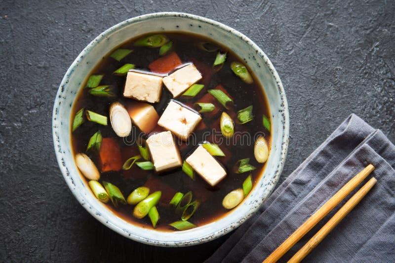 Soupe miso photo stock