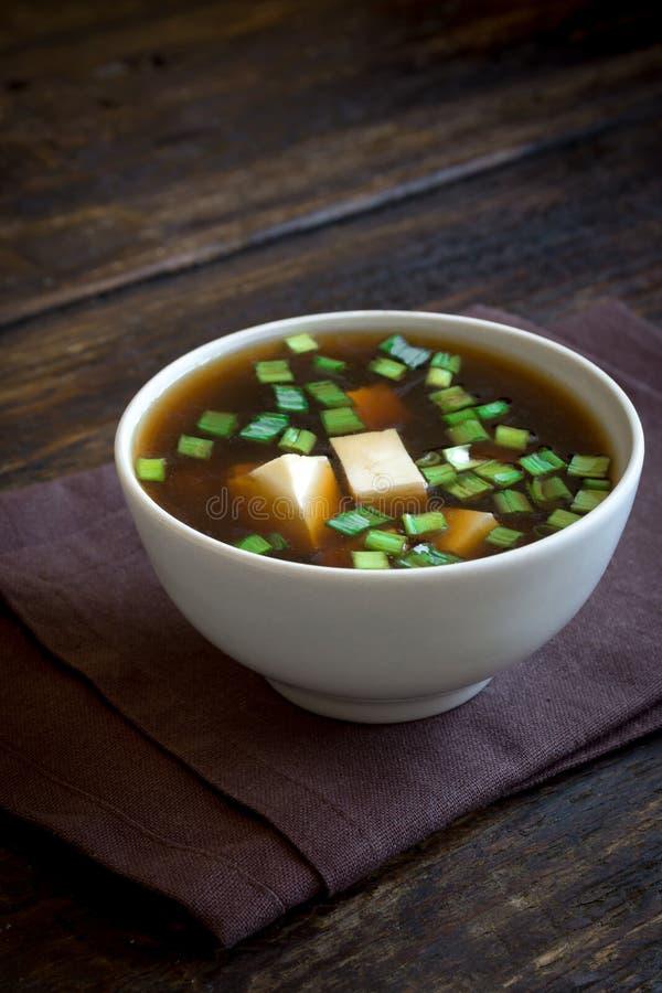 Soupe miso image stock