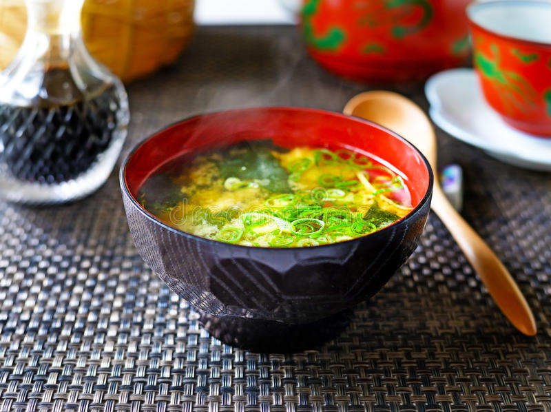 Soupe miso image stock