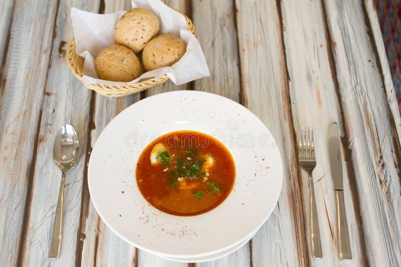 Soupe ukrainienne ou russe à borscht photographie stock