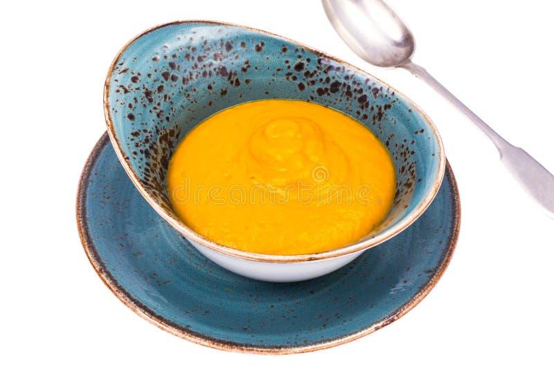 Soupe végétale à crème de carotte de potiron photo libre de droits