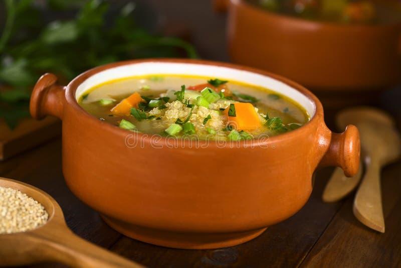 Soupe végétarienne à quinoa image stock