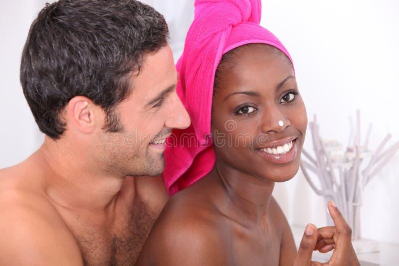 Souple подготавливая в ванной комнате стоковые фото