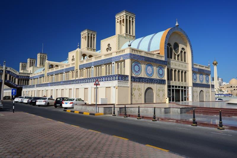 Souq azul en Sharja foto de archivo