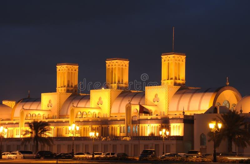 Souq central en la ciudad de Sharja imagenes de archivo