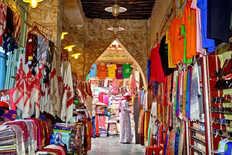 Souq, Doha, Qatar stock afbeeldingen