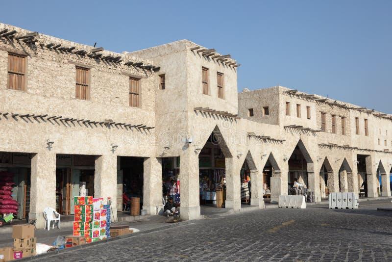 Souq Waqif dans Doha, Qatar images stock