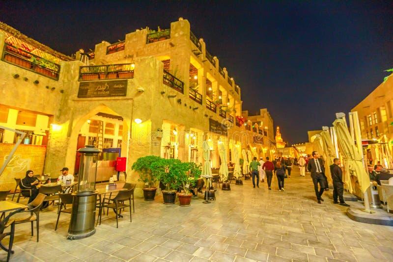 Souq Waqif At Night  Doha, Qatar Editorial Stock Image - Image of