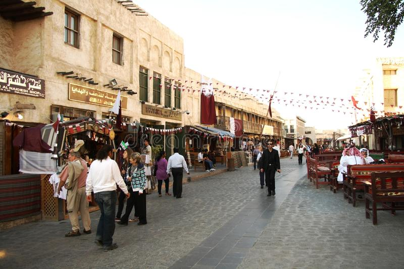 Souq Waqif in Doha, Qatar. Famous Souq Waqif - the main traditional market - in Doha, Qatar stock photography