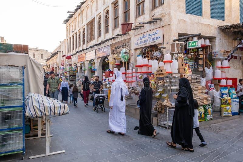Souq Waqif Doha, Qatar, Mellanöstern arkivbild