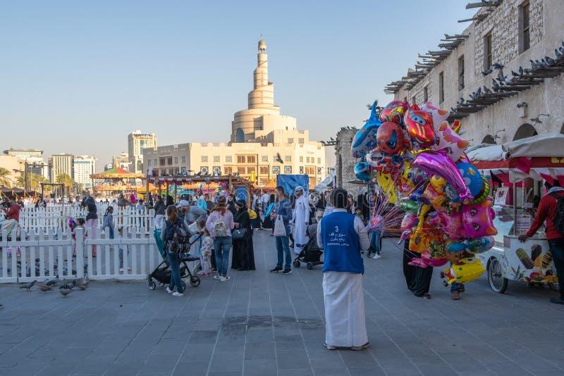 Souq Waqif Doha, Qatar, Mellanöstern arkivfoton