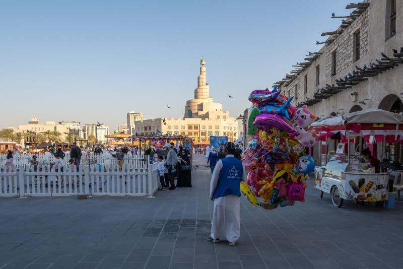 Souq Waqif Doha, Qatar, Mellanöstern royaltyfri foto